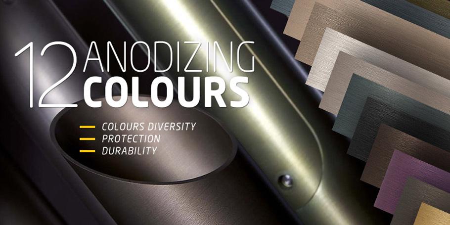 12 couleurs d'anodisation en standard , voil� de quoi s'affranchir de l'uniformit�